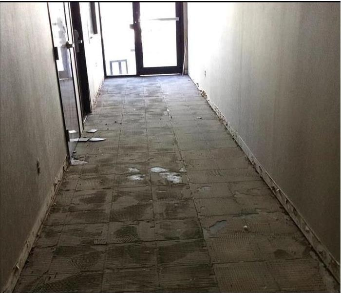 Flooded Hallway in Commercial Building After