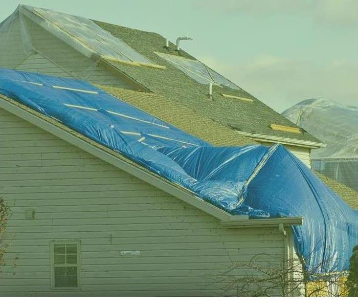 Roof Damage Tarped